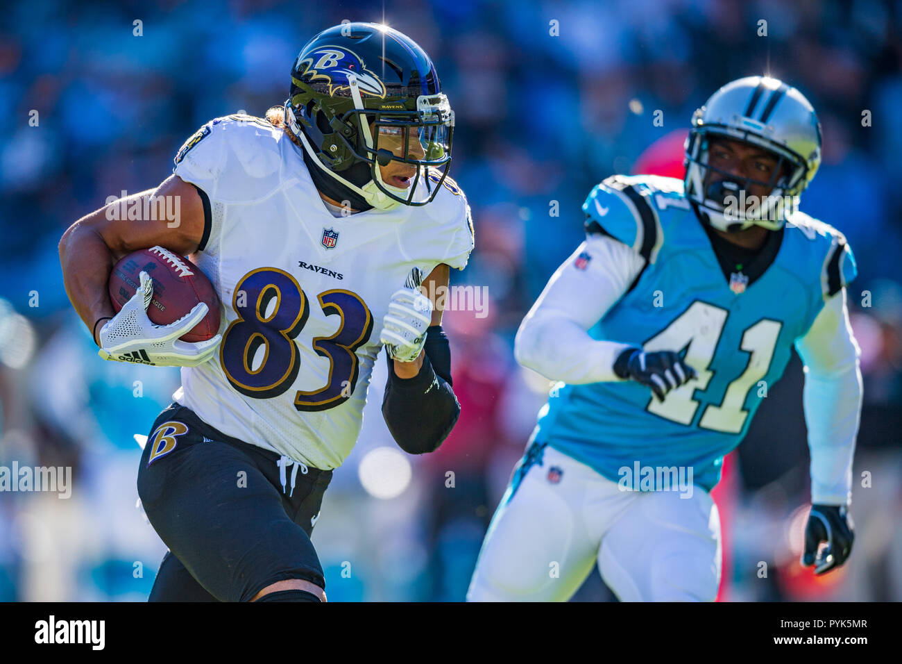 09e1244915dd Baltimore Ravens wide receiver Willie Snead (83) during the NFL football  game between the Baltimore Ravens and the Carolina Panthers on Sunday  October 28
