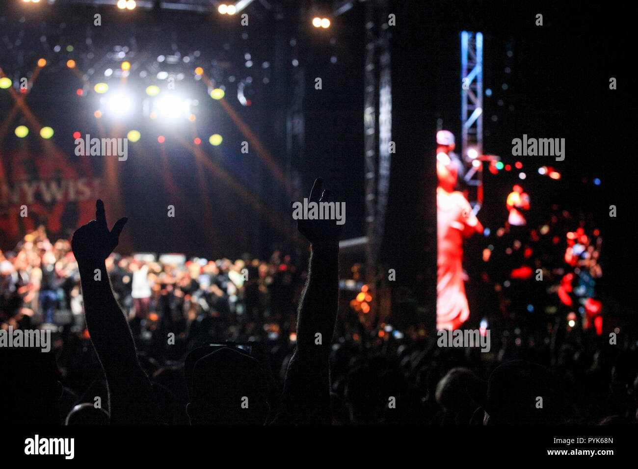 Huntington Beach, Ca. 27th Oct, 2018. Pennywise performs at Surf City Blitz at Huntington State Beach on October 27, 2018 in Huntington Beach, CA. Credit: Cvp/Image Space/Media Punch/Alamy Live News - Stock Image