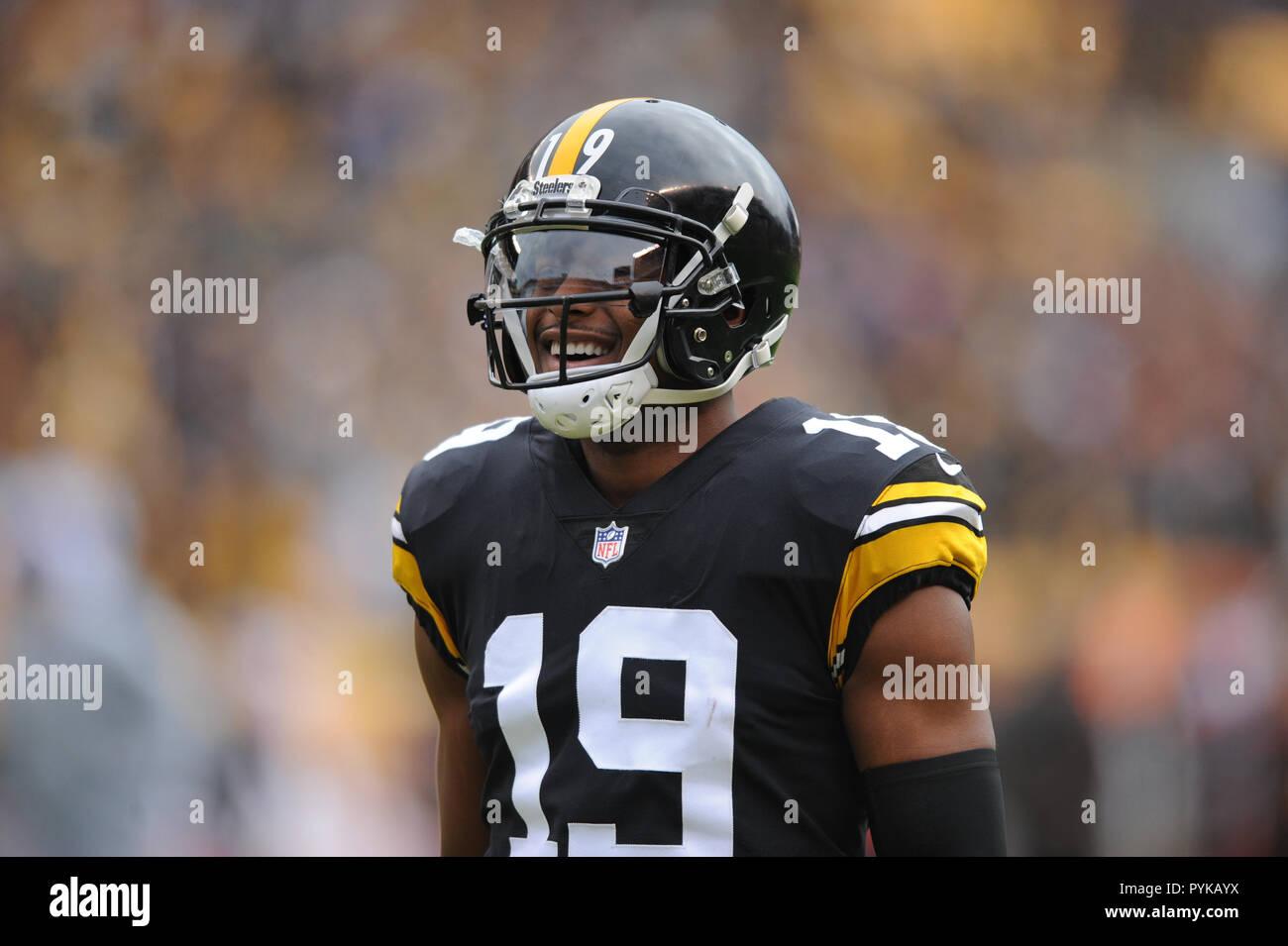 Pittsburgh, PA, USA  28th Oct, 2018  Steelers #19 JuJu Smith