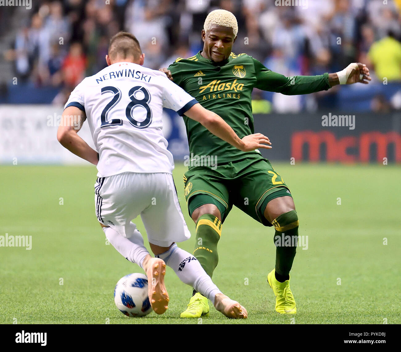 huge selection of 7c72f d5c21 Vancouver Whitecaps  Jake Nerwinski (L) vies