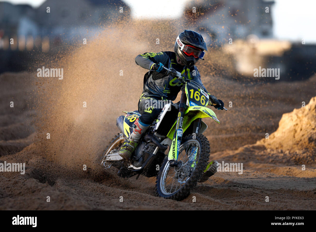 Portrush, Northern Ireland. Sunday 28 October, 2018  Action from the 2018 Portrush Beach Races. Credit: Graham  Service/Alamy Live News - Stock Image