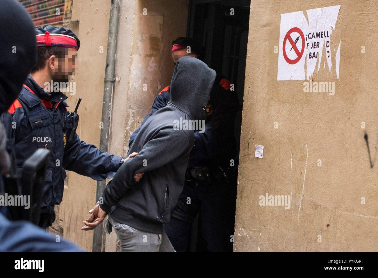 Barcelona, Spain  29th Oct, 2018  Catalan local police