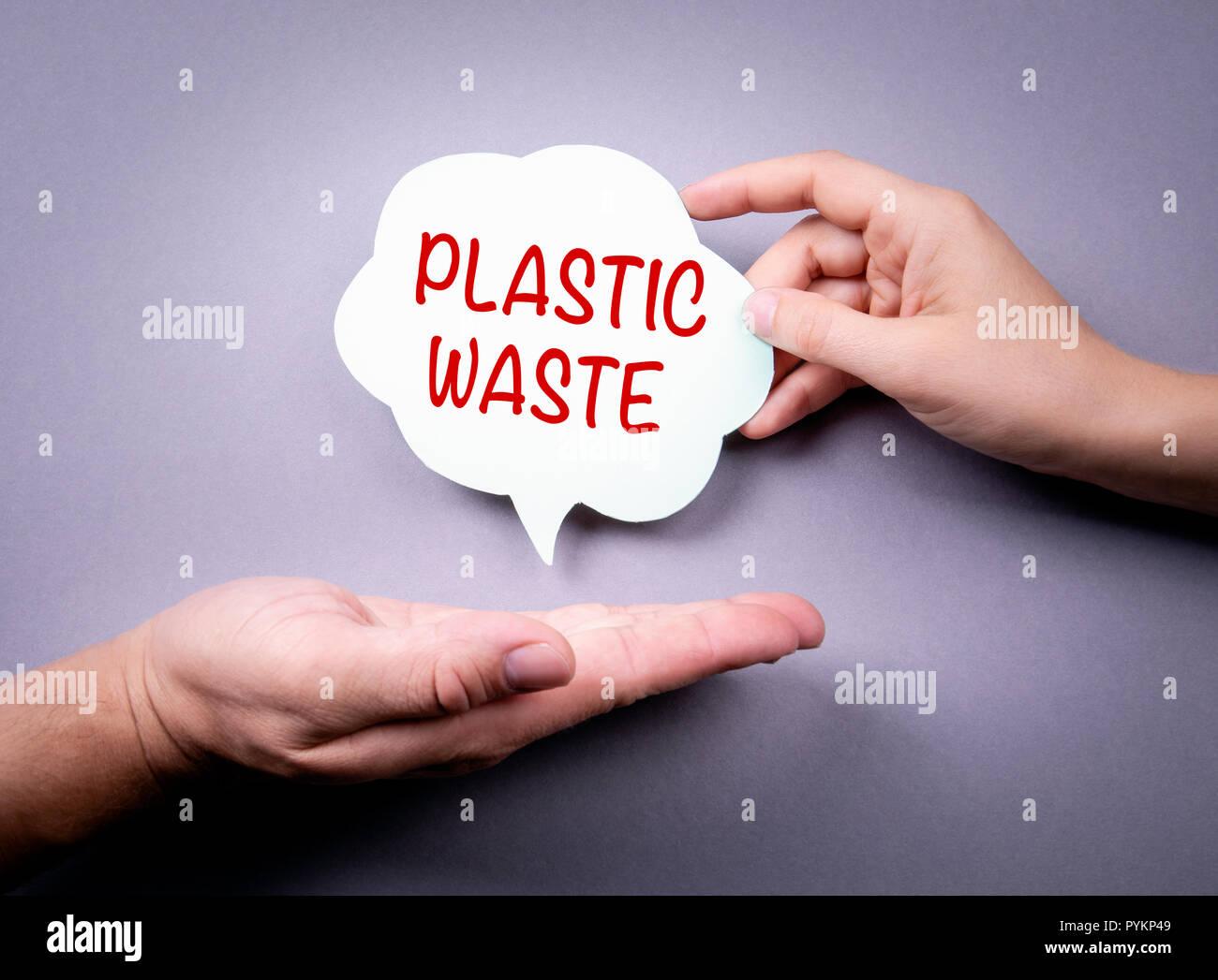 plastic waste concept - Stock Image