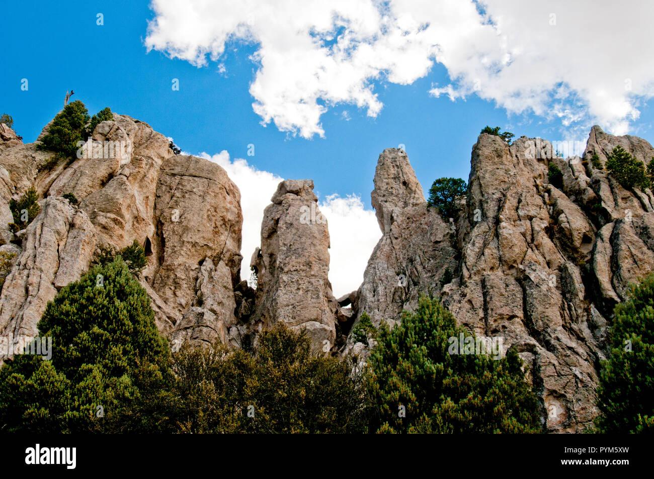 Pinnacles in Almo Pluton granite, City of Rocks National Reserve, Idaho - Stock Image