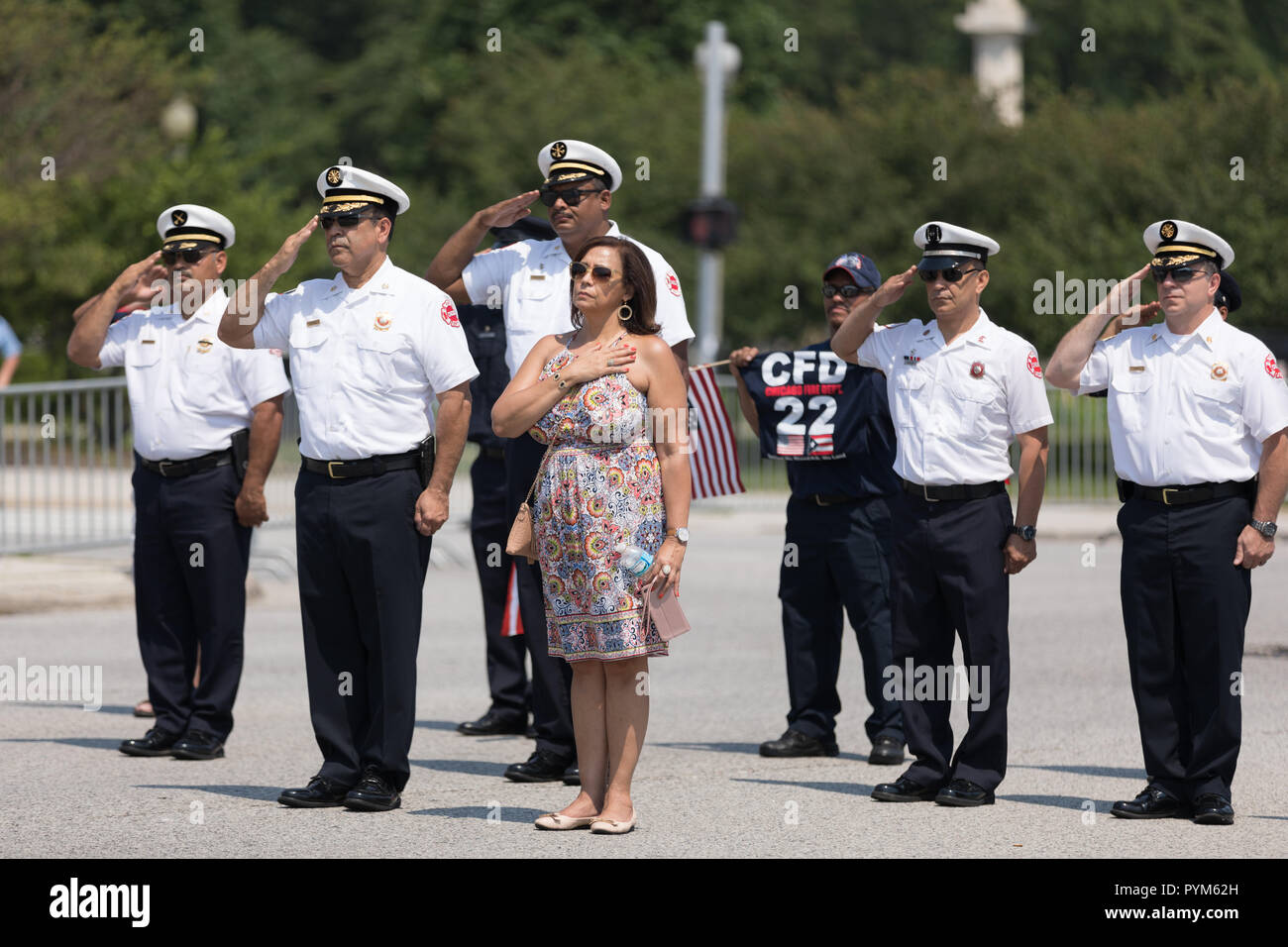 Chicago, Illinois, USA - June 16, 2018: The Puerto Rican Day Parade