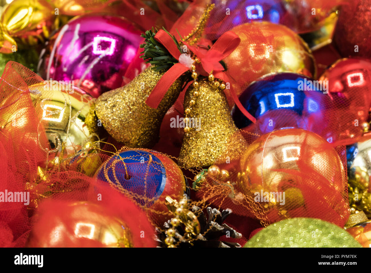 Christmas Vibrant Colorful Wallpaper Background Texture Of