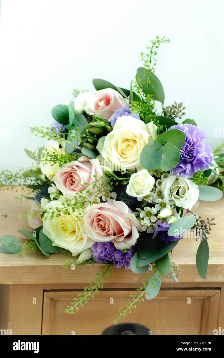 Pastel Bridal Bouquet - Stock Image