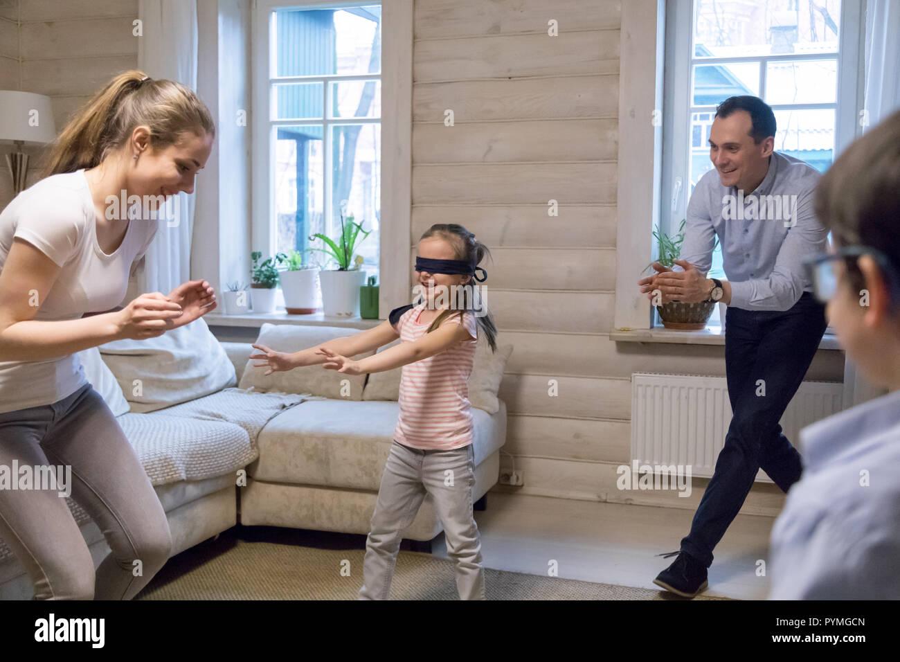Hide Seek Kids: Blind Child Play Stock Photos & Blind Child Play Stock