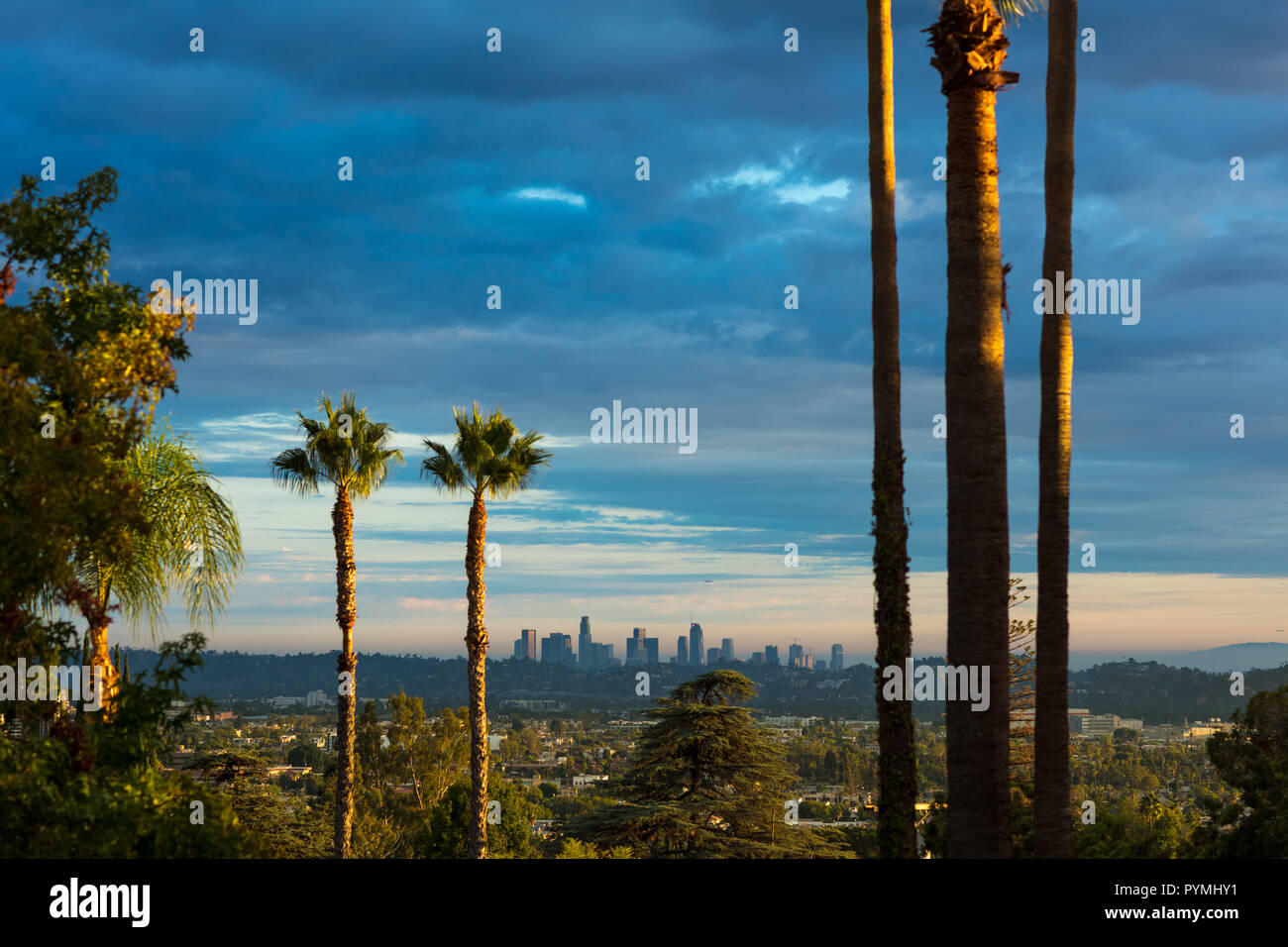 Los Angeles skyline in the distance Stock Photo