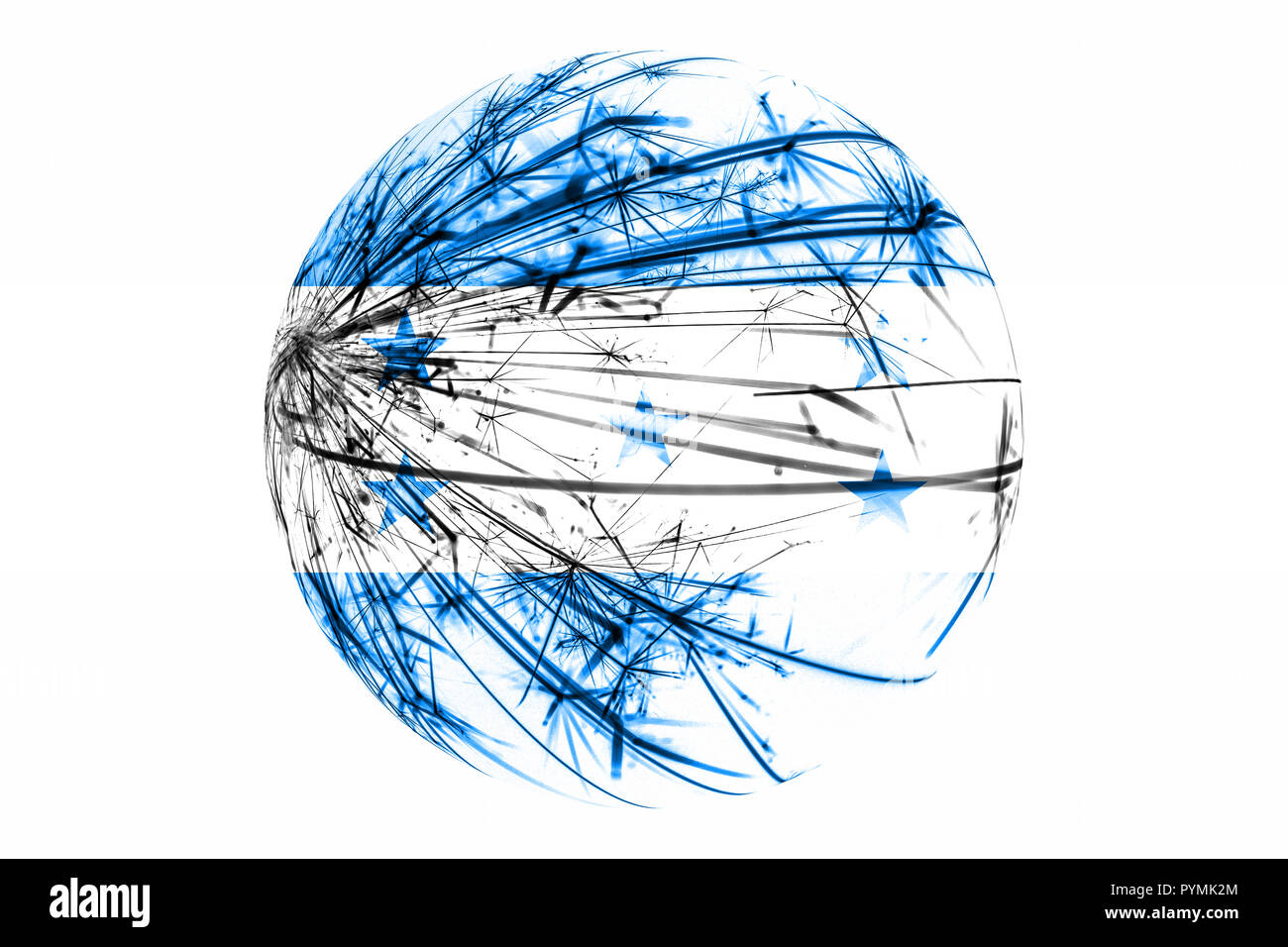 Abstract Honduras sparkling flag, Christmas ball concept isolated on white background Stock Photo