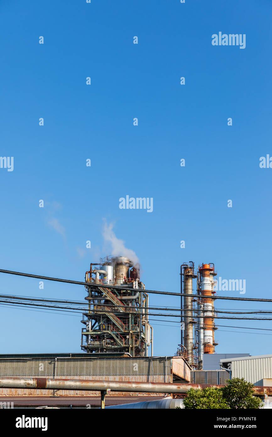Chemical plant; Chidoricho, Kawasaki, Kanagawa Prefecture, Japan - Stock Image