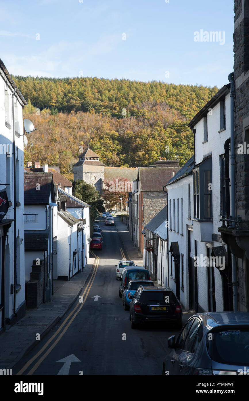 in Knighton, Wales - Stock Image