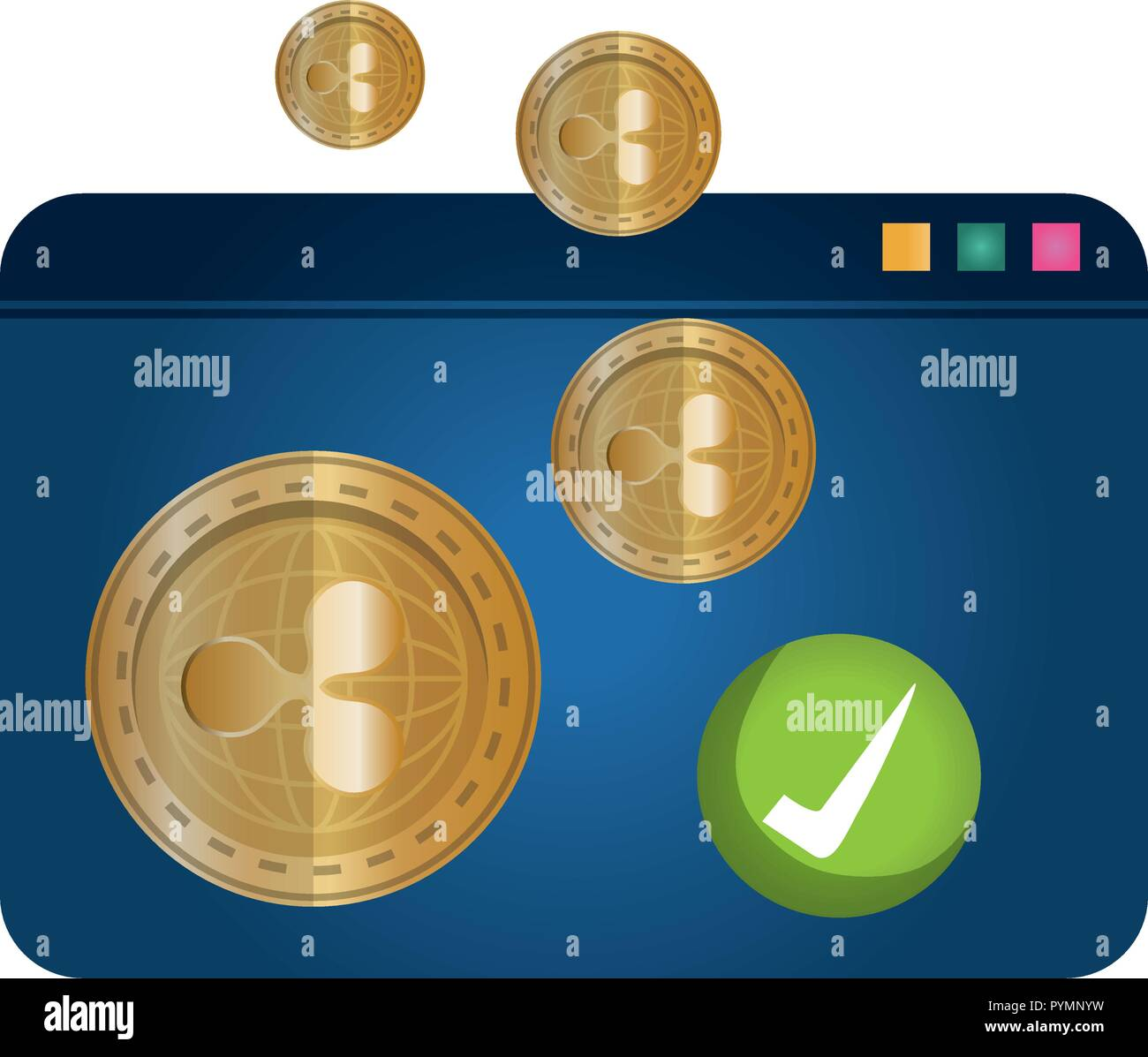 tamplate webpage with ripple vector illustration design - Stock Image