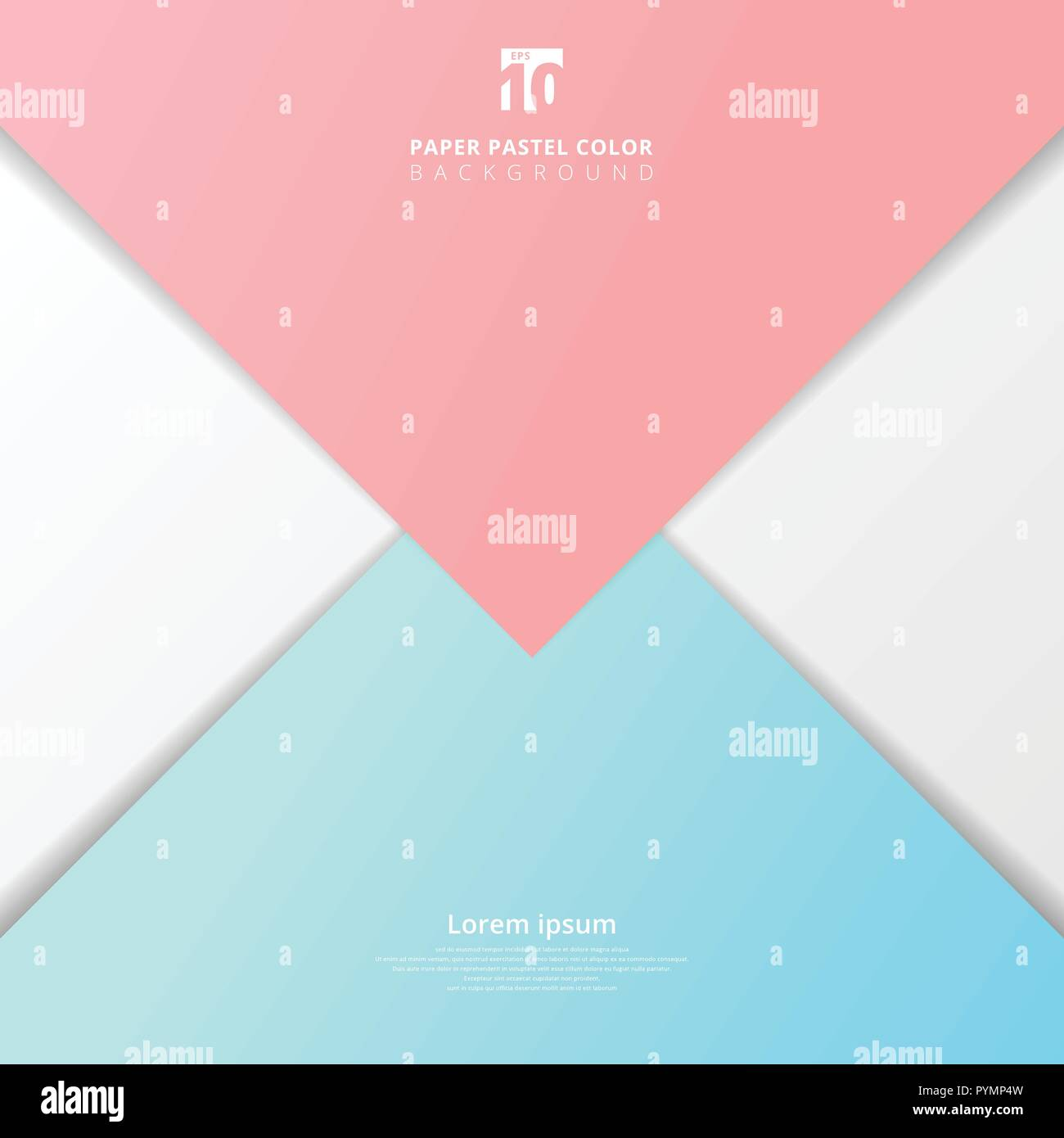 abstract presentation template paper sheet overlap blue and pink