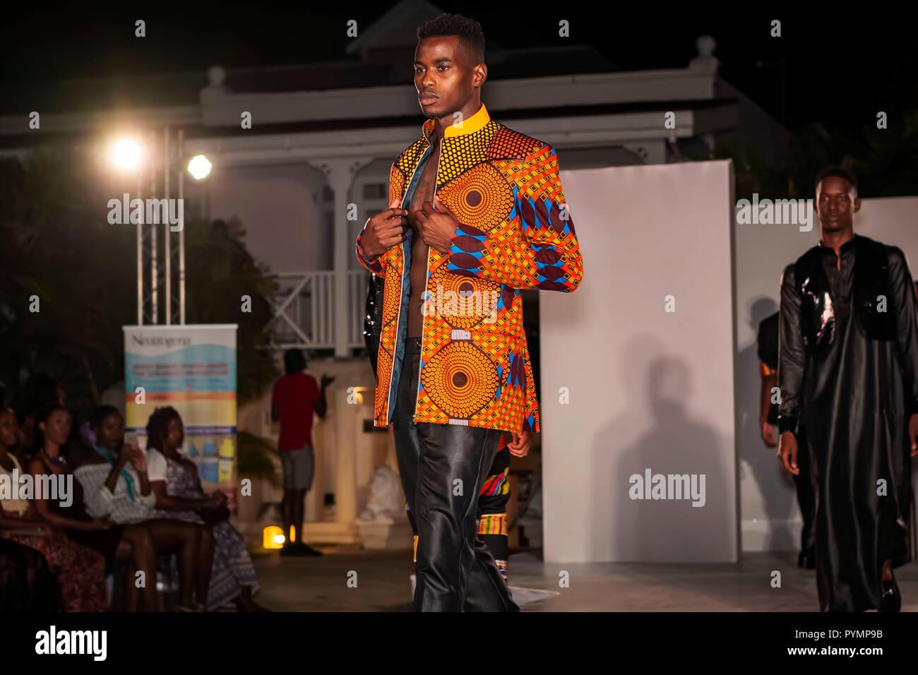 International Fashion Festival (Barbados Fashion Week) 2018; October 27-28; 2018; Bellevue House; St. Michael; Bridgetown; Barbados - Stock Image