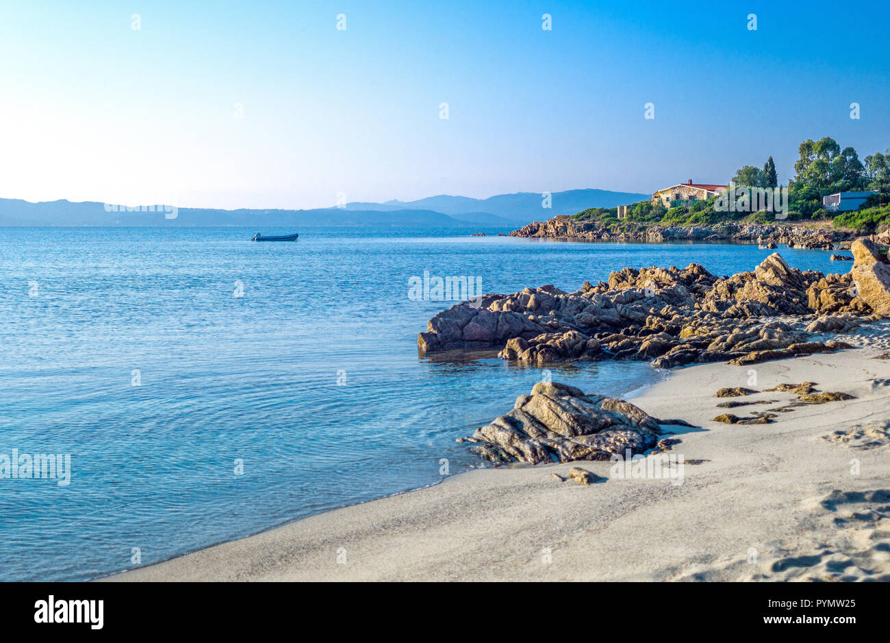 Italy, Sardinia, Olbia Tempio, the Lido of Pittolongu Stock Photo