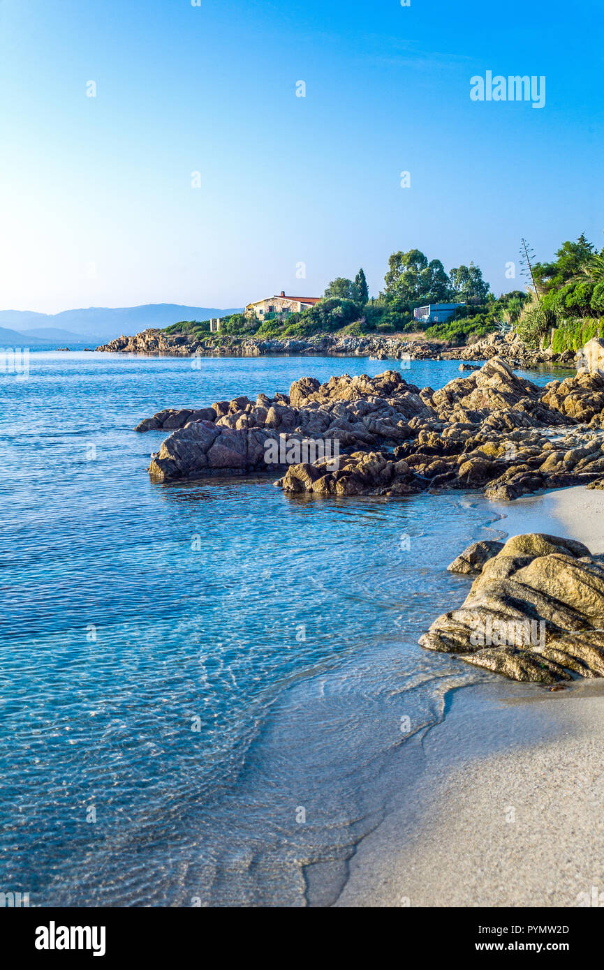 Italy, Sardinia, Olbia Tempio, the Lido of Pittolongu - Stock Image