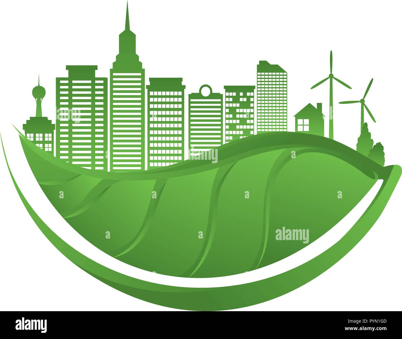 green city buildings ecology icons vector illustration design Stock Vector