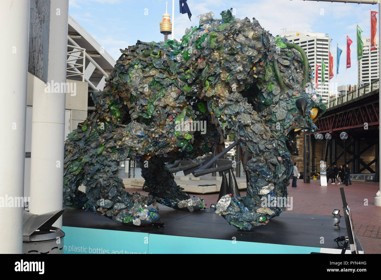 Plastic Monster - Stock Image