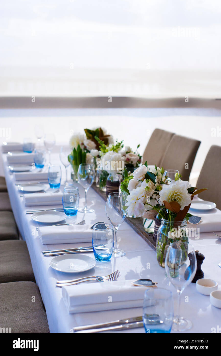 Simple Table Decoration For An Event Using The Colour Palette To