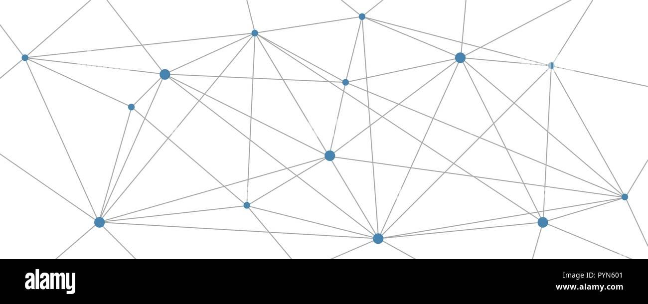 digital network structure on white background vector illustration EPS10 Stock Vector