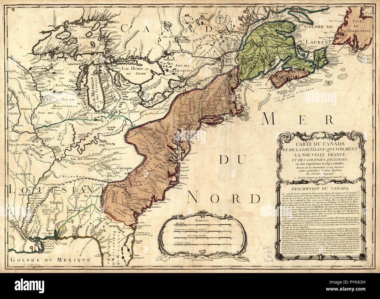Vintage Maps / Antique Maps - Map of Canada and Louisiana that make ...