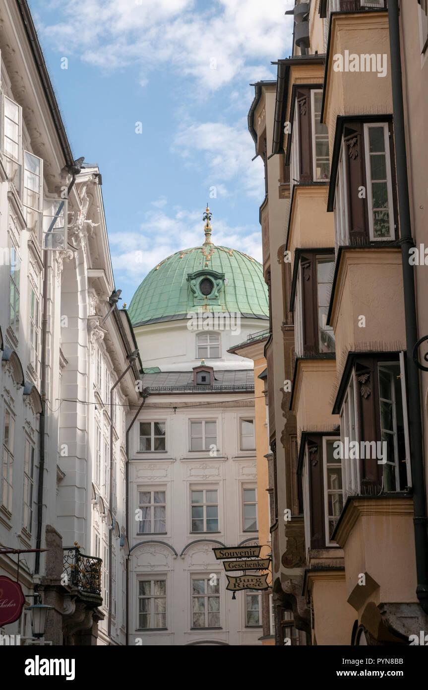 Innsbruck, Austria, Hofgasse Street Stock Photo