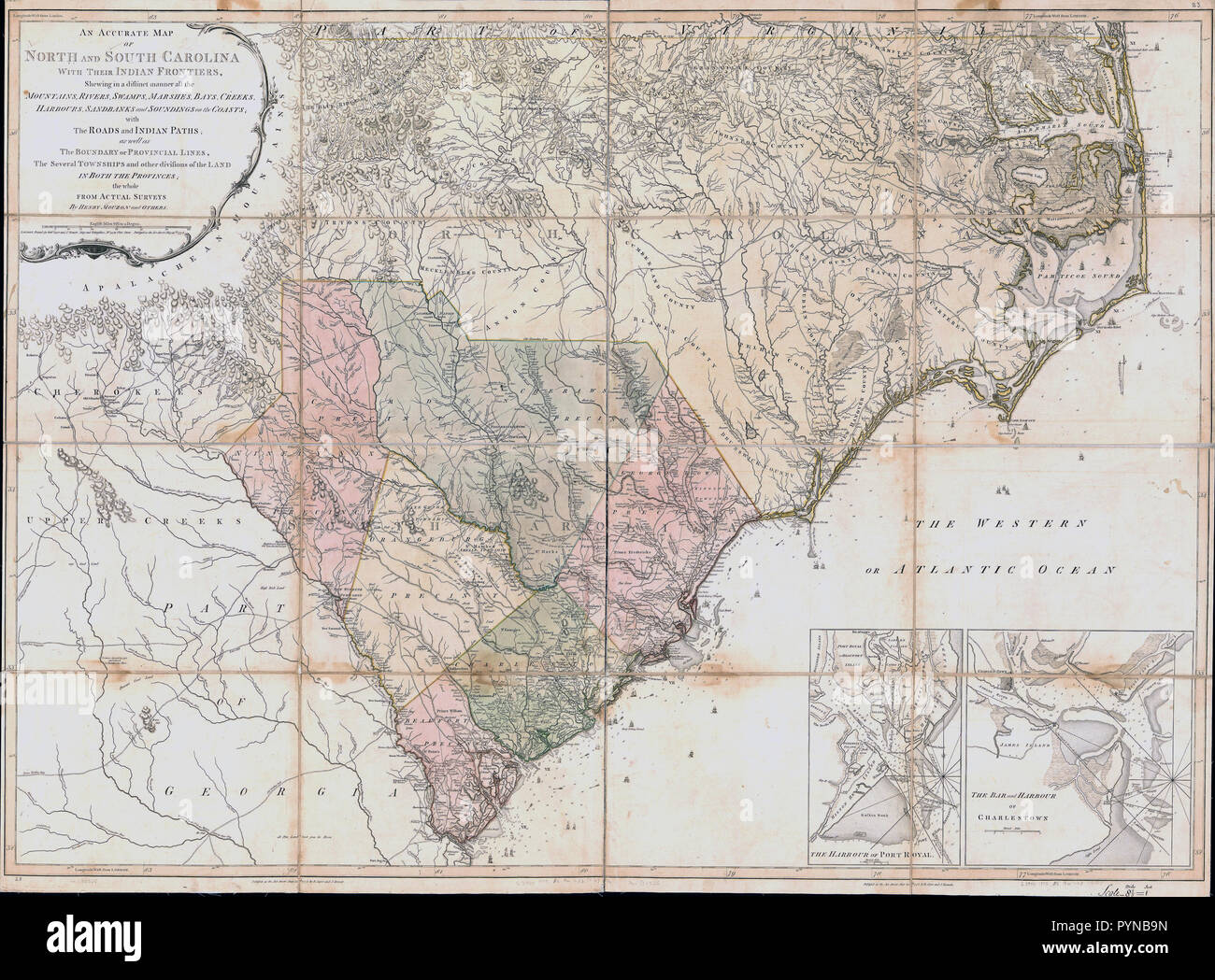Vintage South Carolina Map.Vintage Maps Antique Maps An Accurate Map Of North And South