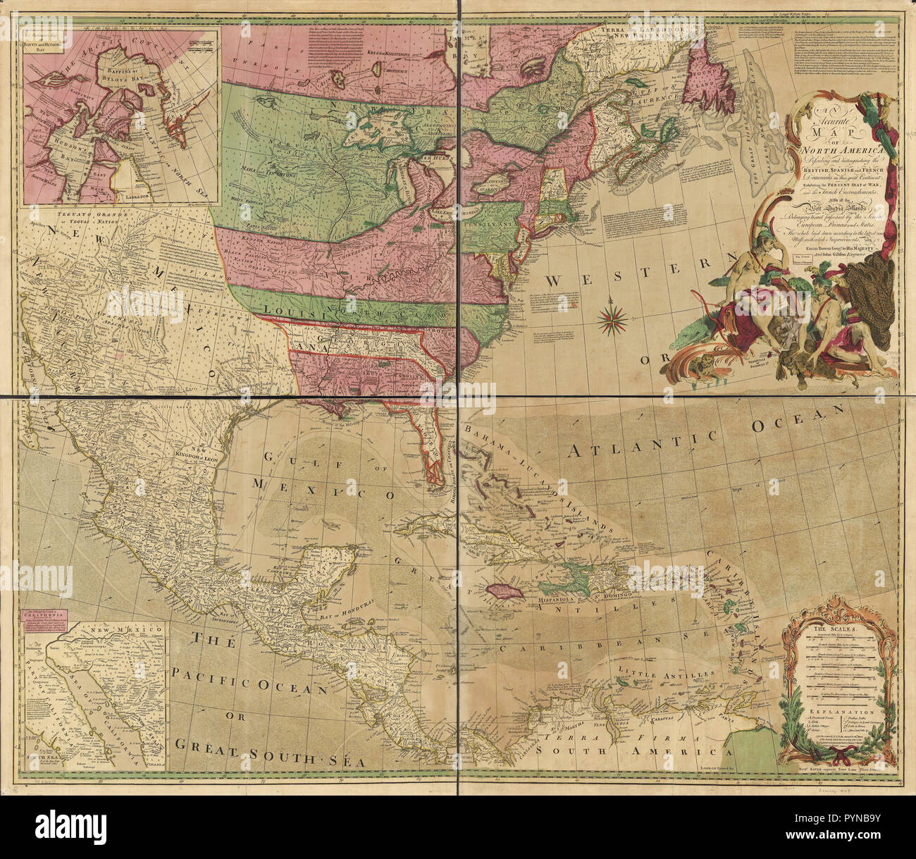 Vintage Maps / Antique Maps - An accurate map of North America ... on russia map, korea map, texas map, china map, europe map, australia map, california map, japan map, maharashtra map, canada map, sri lanka map, arabian sea map, brazil map, karnataka map, andhra pradesh map, france map, indian subcontinent map, time zone map, africa map,