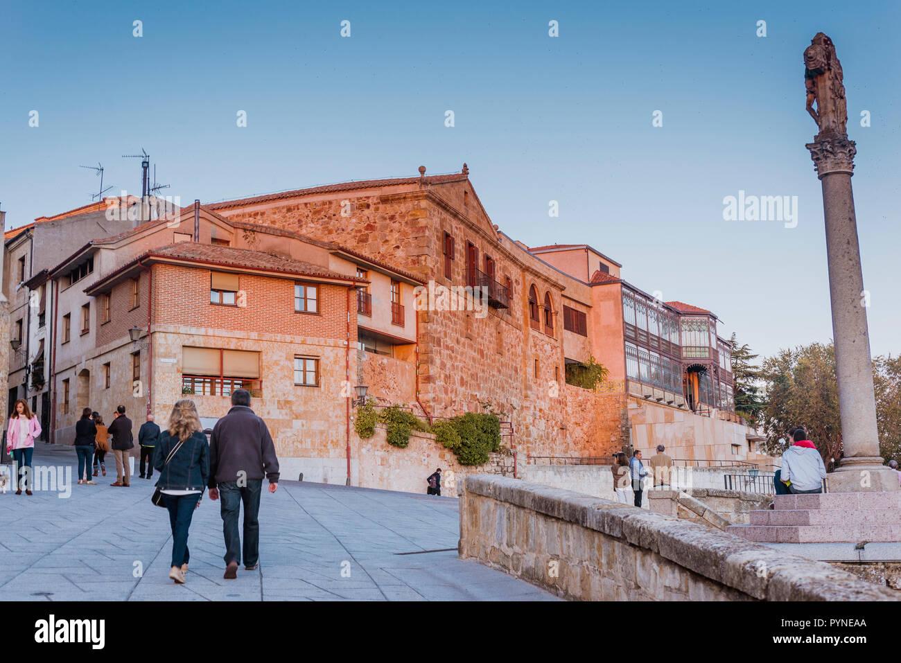 Paseo de San Gregorio. Old town of Salamanca, Castilla y Leon, Spain, Europe - Stock Image