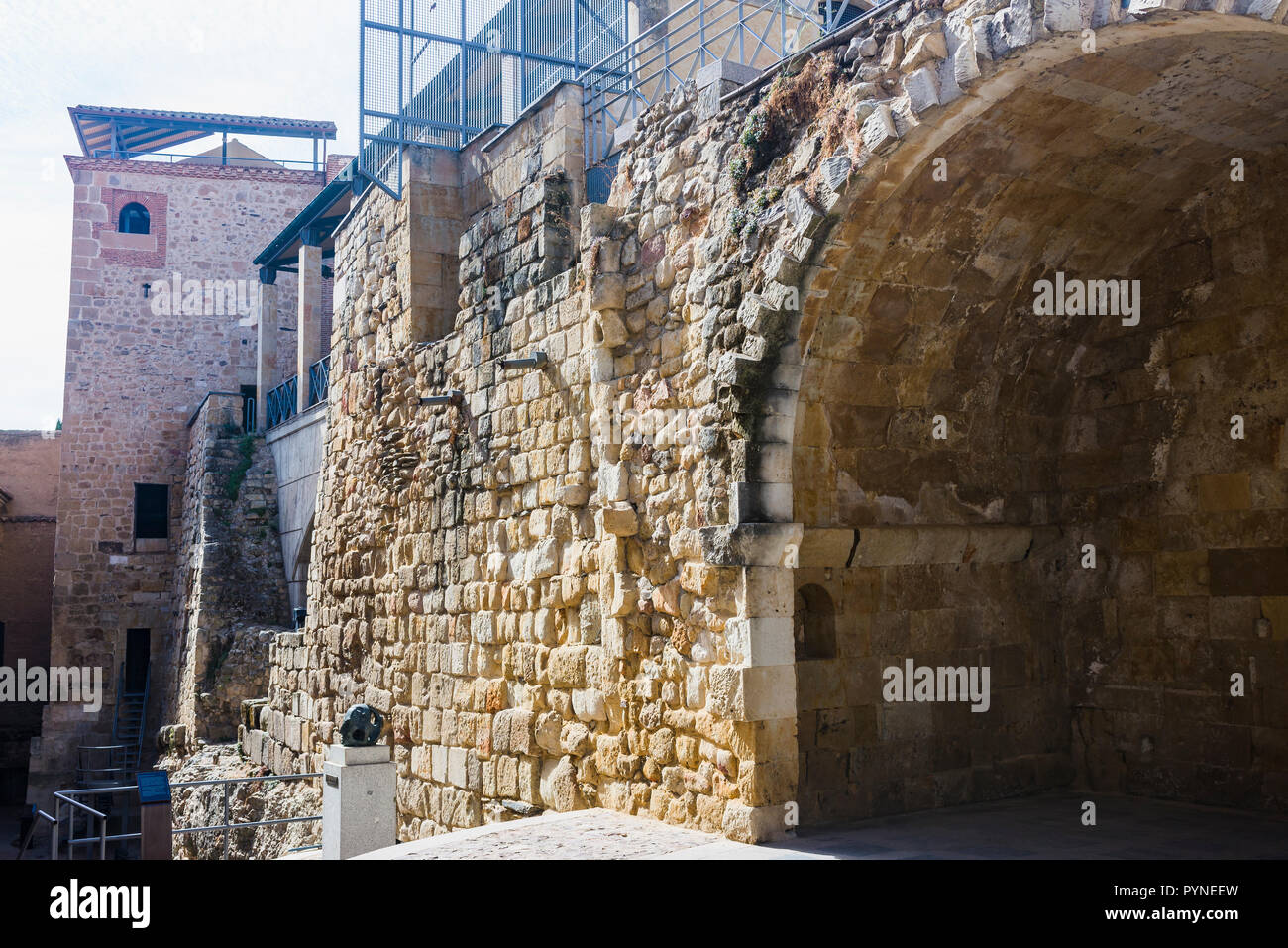 Remains and ruins of the old wall of the old city of Salamanca, Castilla y Leon, Spain, Europe - Stock Image