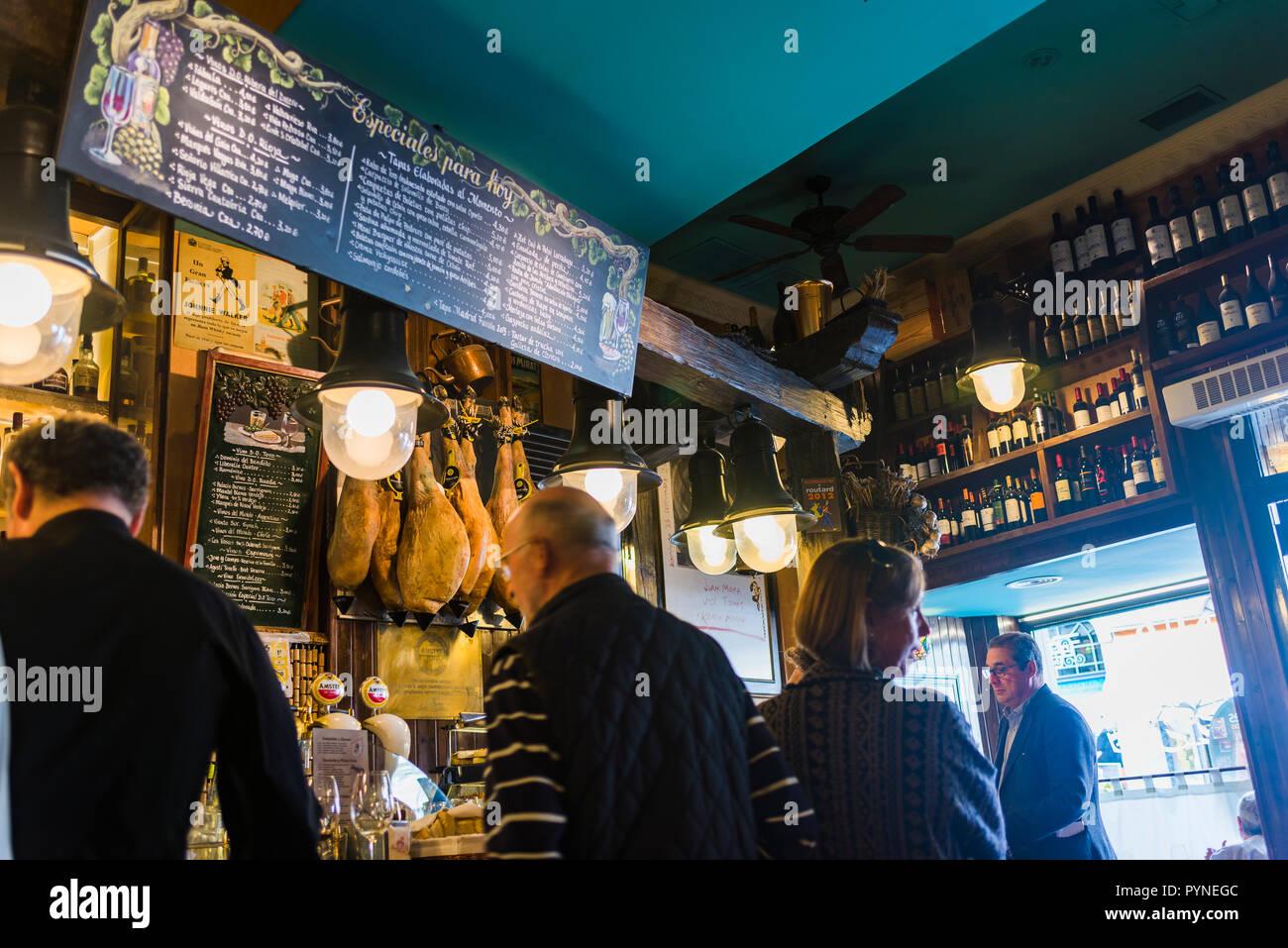 Winery restaurant bar Casa Paca. Salamanca, Castilla y Leon, Spain, Europe - Stock Image