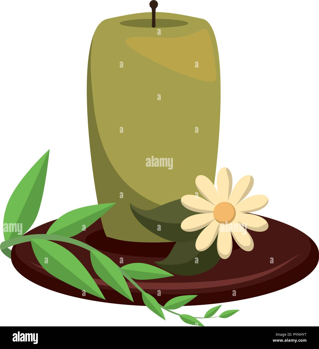 aromateraphy candle spa icon vector illustration design - Stock Vector