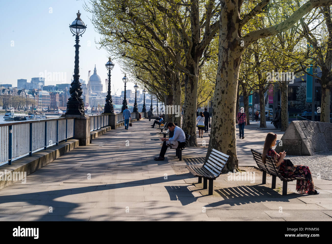 Weather pix along the South Bank - Stock Image