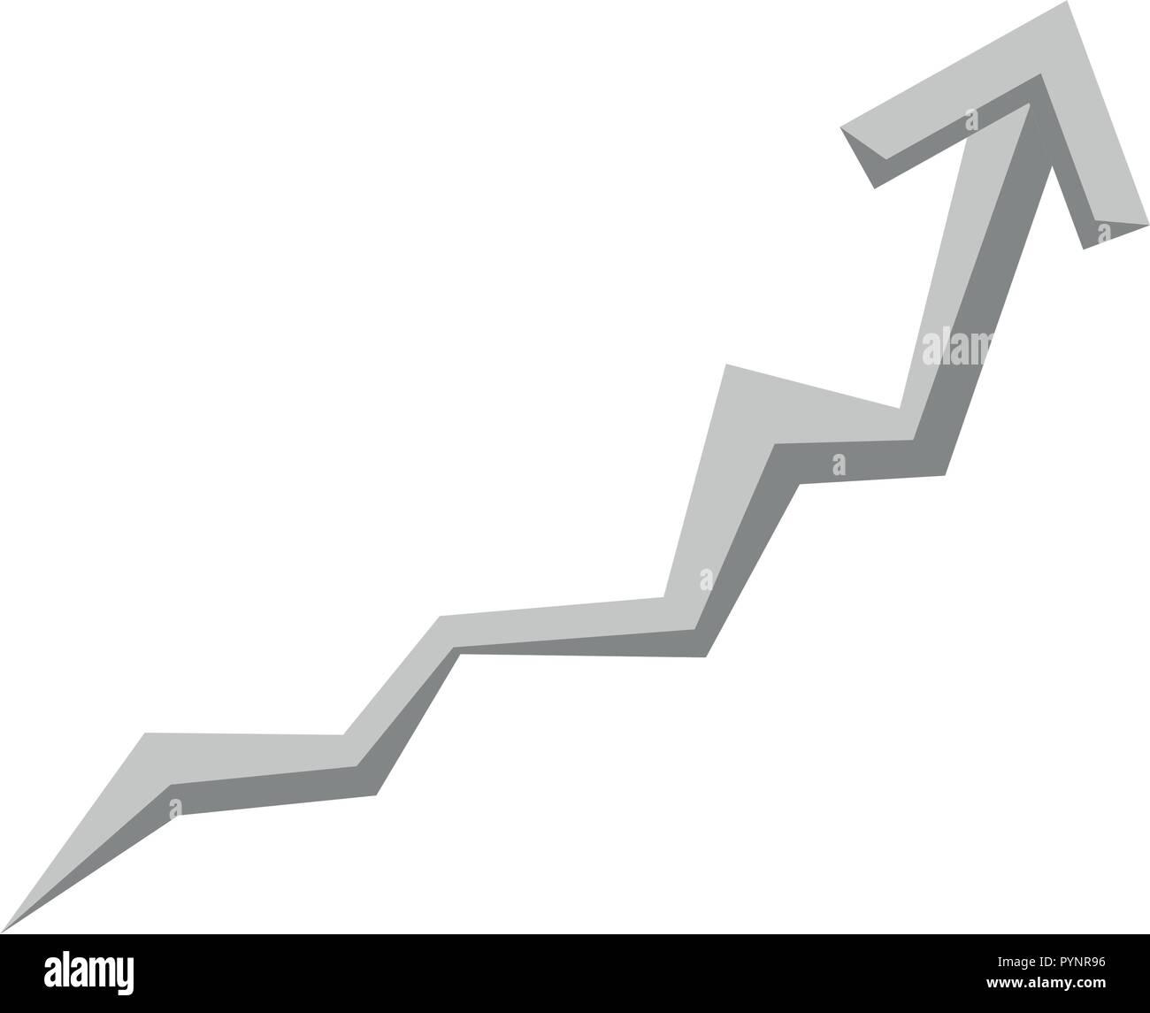 arrow signal isolated icon vector illustration design Stock Vector