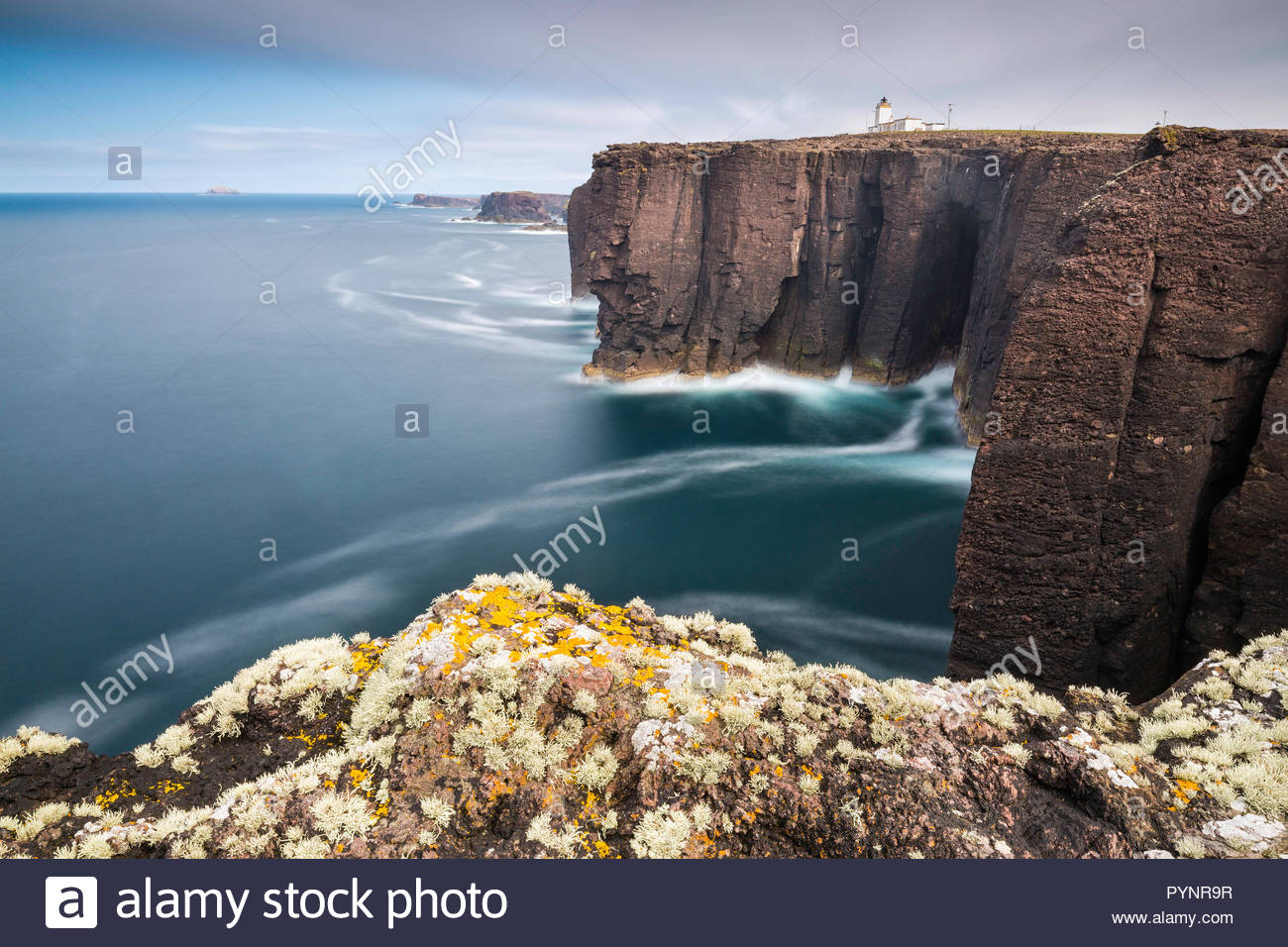 Eshaness Lighthouse, Hillswick, Shetland Islands - Stock Image