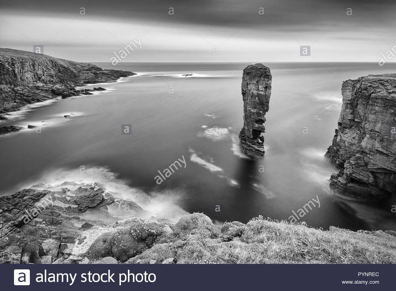 Yesnaby Stack, Orkney, Orkney Islands, Scotland - Stock Image