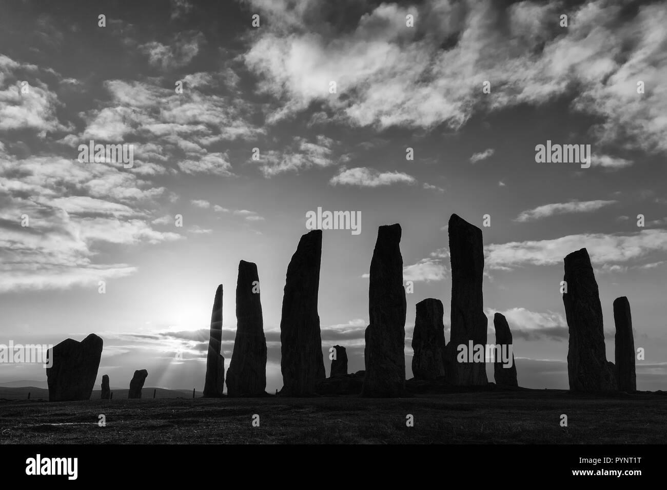 Callanish Stone Circle, Isle of Lewis, Outer Hebrides, Scotland - Stock Image