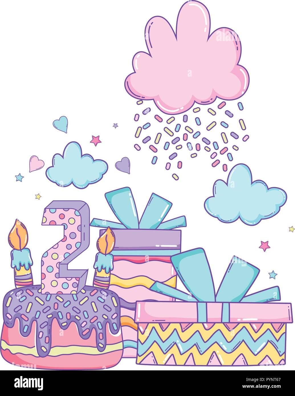 Happy Birthday Cartoons Stock Vector Art Illustration Vector