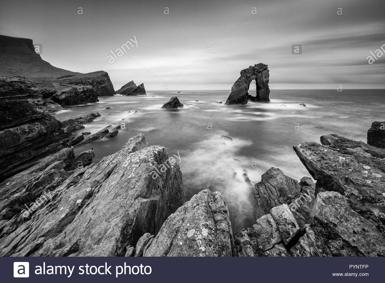 Gaada Stack, Foula, Shetland, Scotland, UK - Stock Image