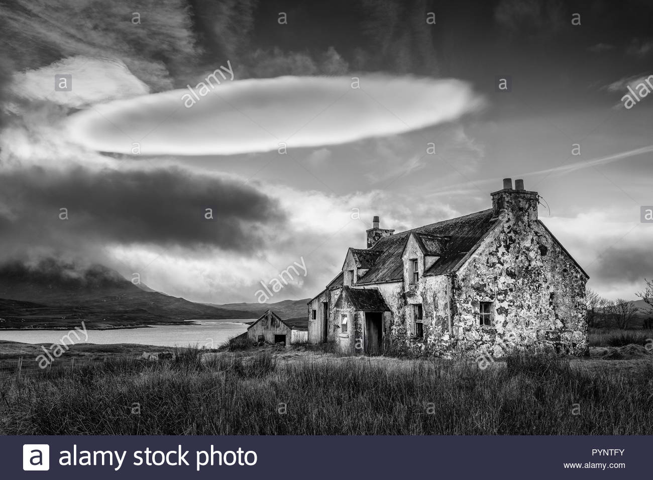 Derelict croft, Isle of Lewis, Outer Hebrides, Scotland, UK - Stock Image