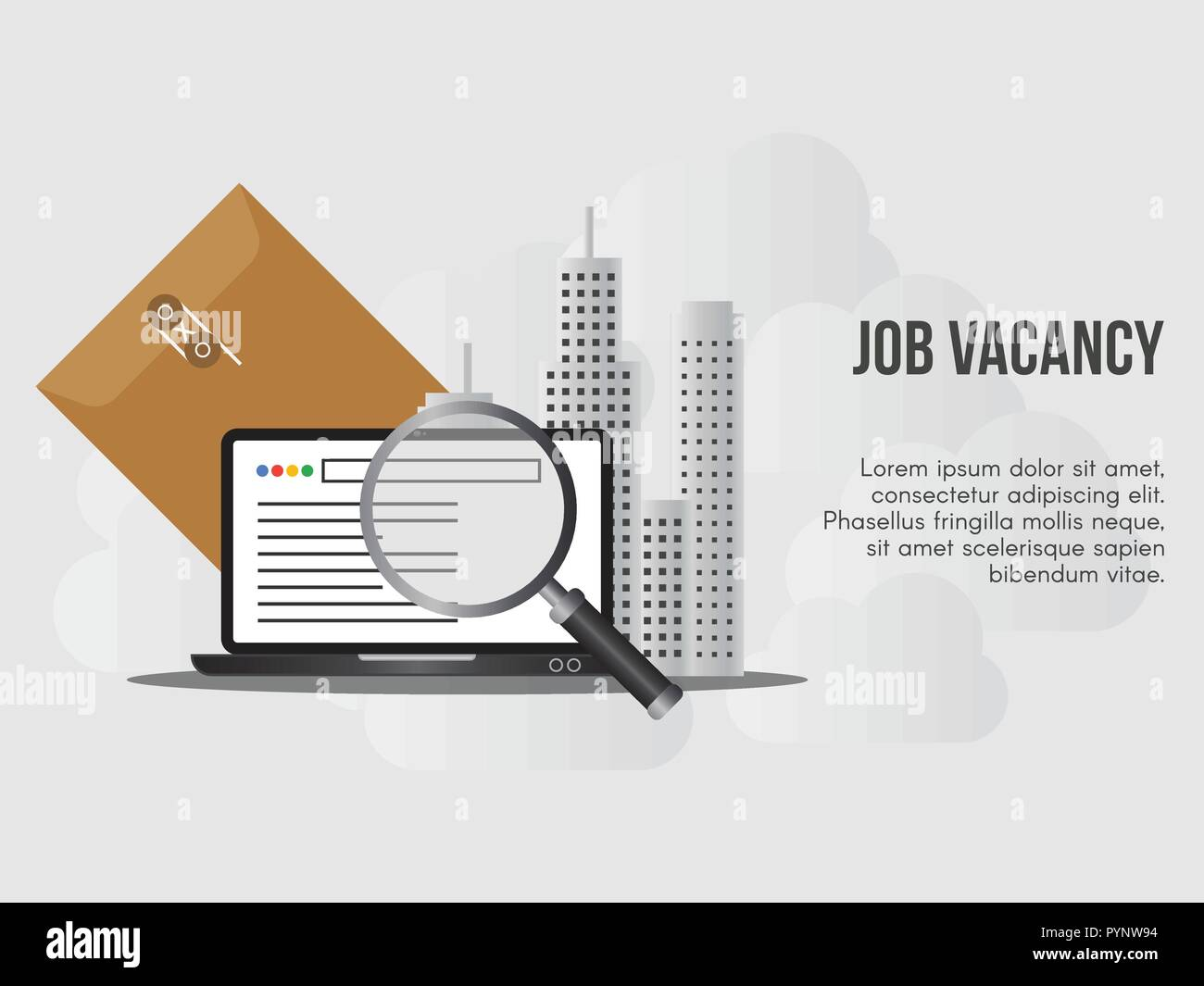 Job Vacancy Concept Ready To Use Vector Suitable For Background Wallpaper Landing Page Web Banner And Other Creative Work Stock Vector Image Art Alamy