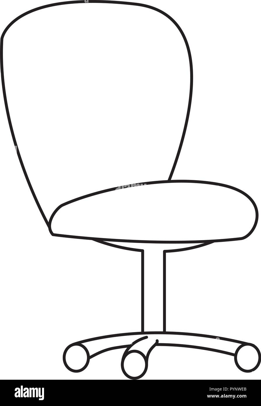 office chair isolated icon vector illustration design - Stock Image