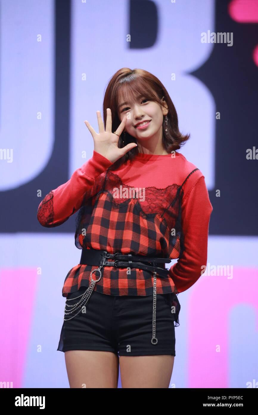 Seoul, Korea  29th Oct, 2018  IZONE attend debut show to promote