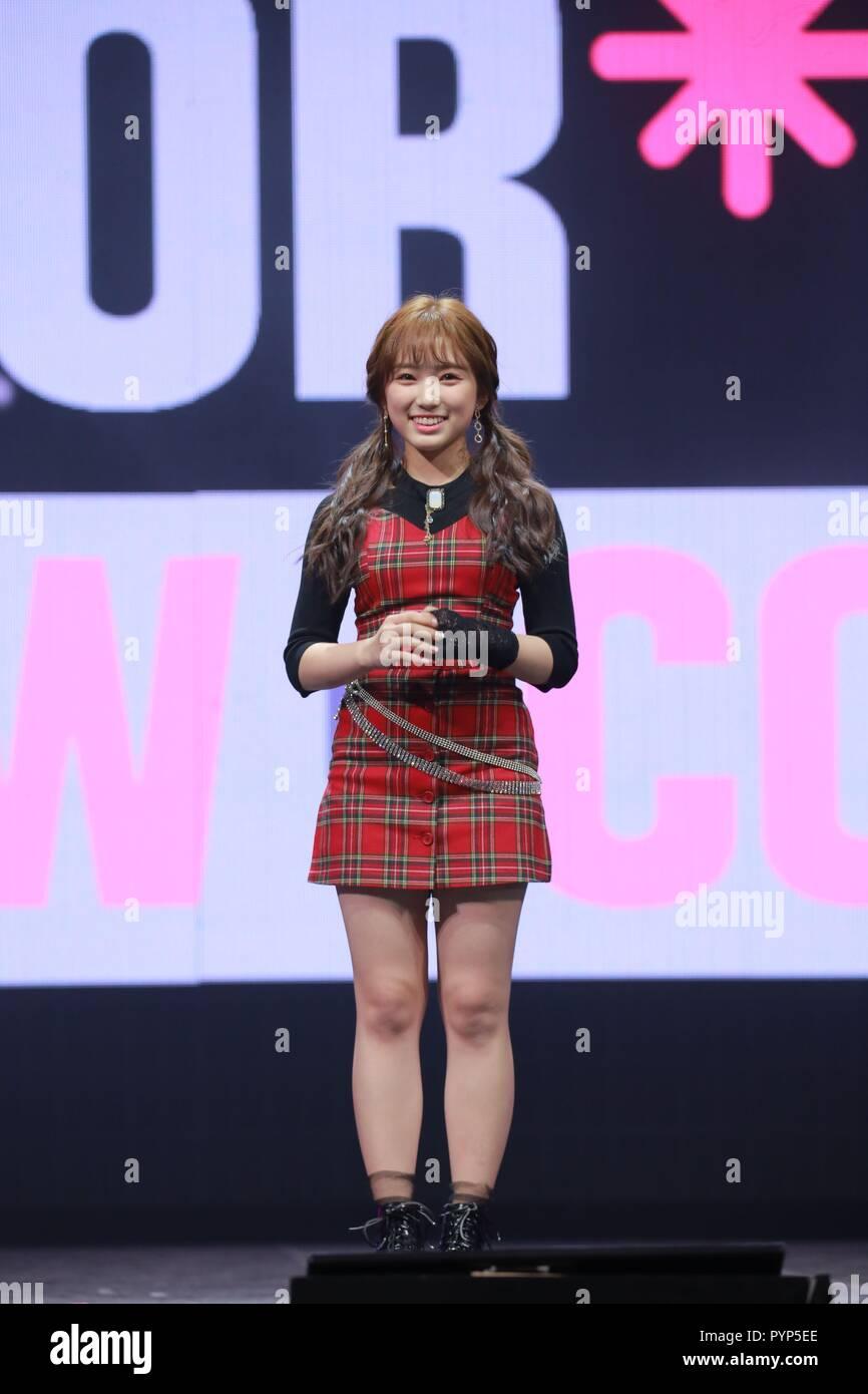 Seoul, Korea  29th Oct, 2018  IZONE attend debut show to