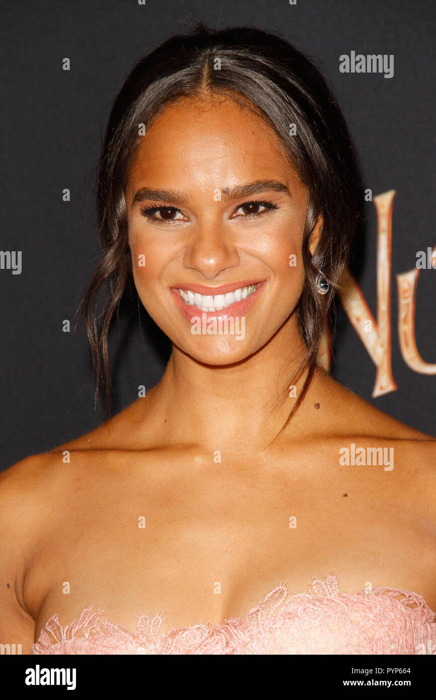 Misty Copeland at the World Premiere of Disneys' 'The Nutcracker And The Four Realms' held at the Ray Dolby Ballroom / El Capitan Theatre in Hollywood, CA, October 29, 2018. Photo by Joseph Martinez / PictureLux - Stock Image