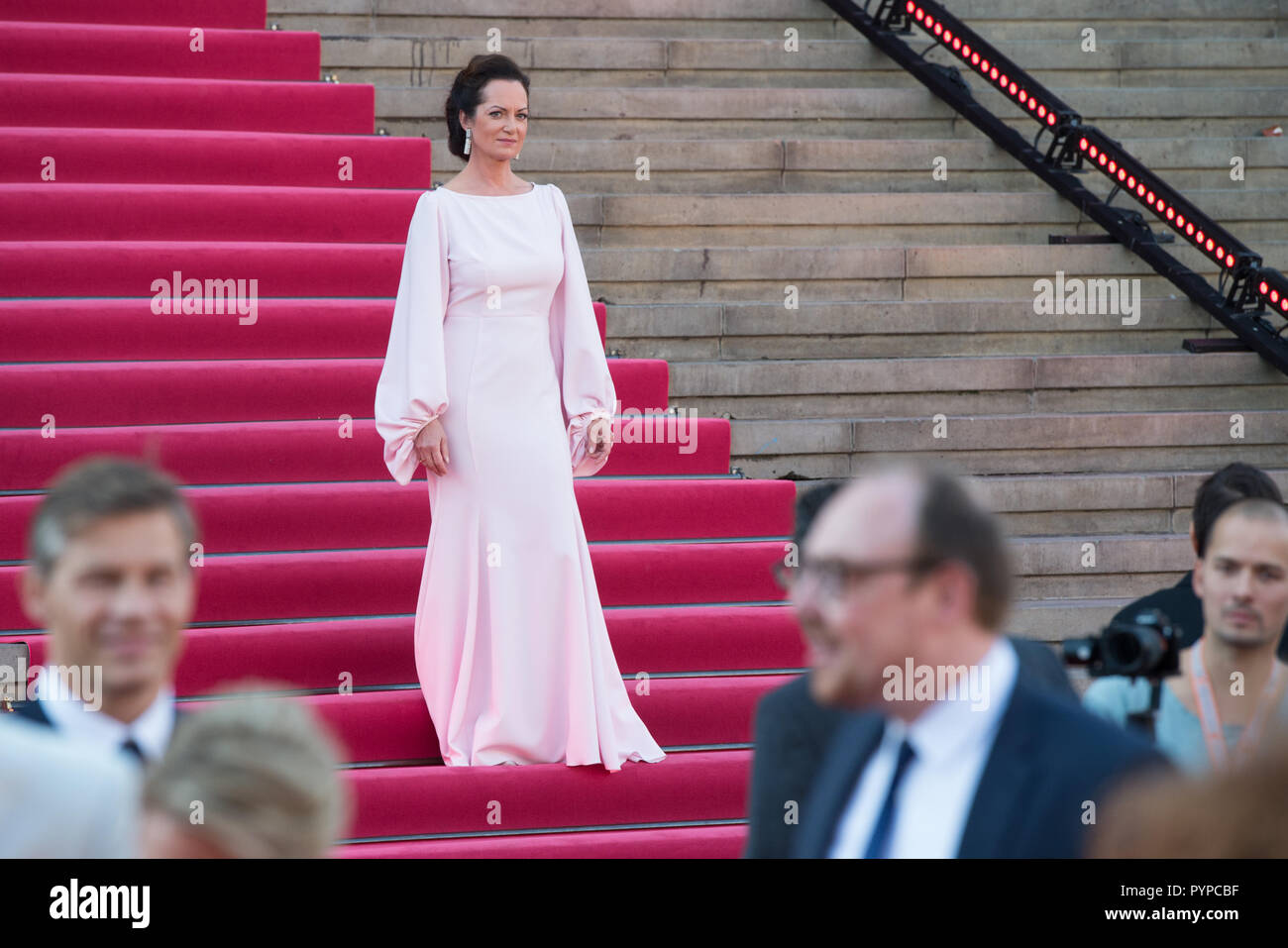Actress Natalia WOERNER Award ceremony of the Opus Klassik 2018 by the Verein zur Foerderung der Klassischen Musik eV in the Konzerthaus Berlin on 14.10.2018. | Usage worldwide - Stock Image