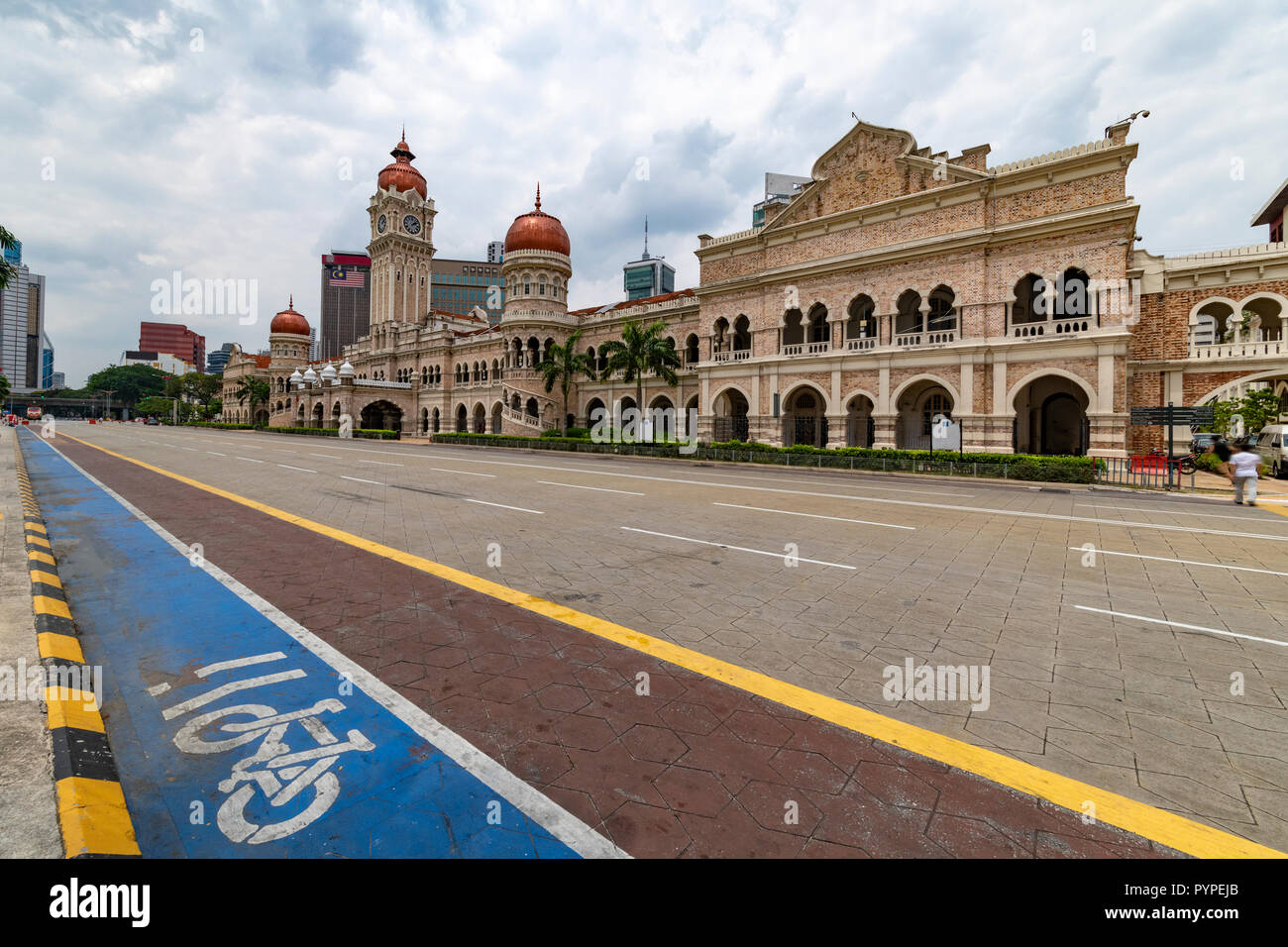 View Of The Empty Bangunan Sultan Abdul Samad Building From The Merdeka Square Independence Place In Kuala Lumpur Malaysia Stock Photo Alamy