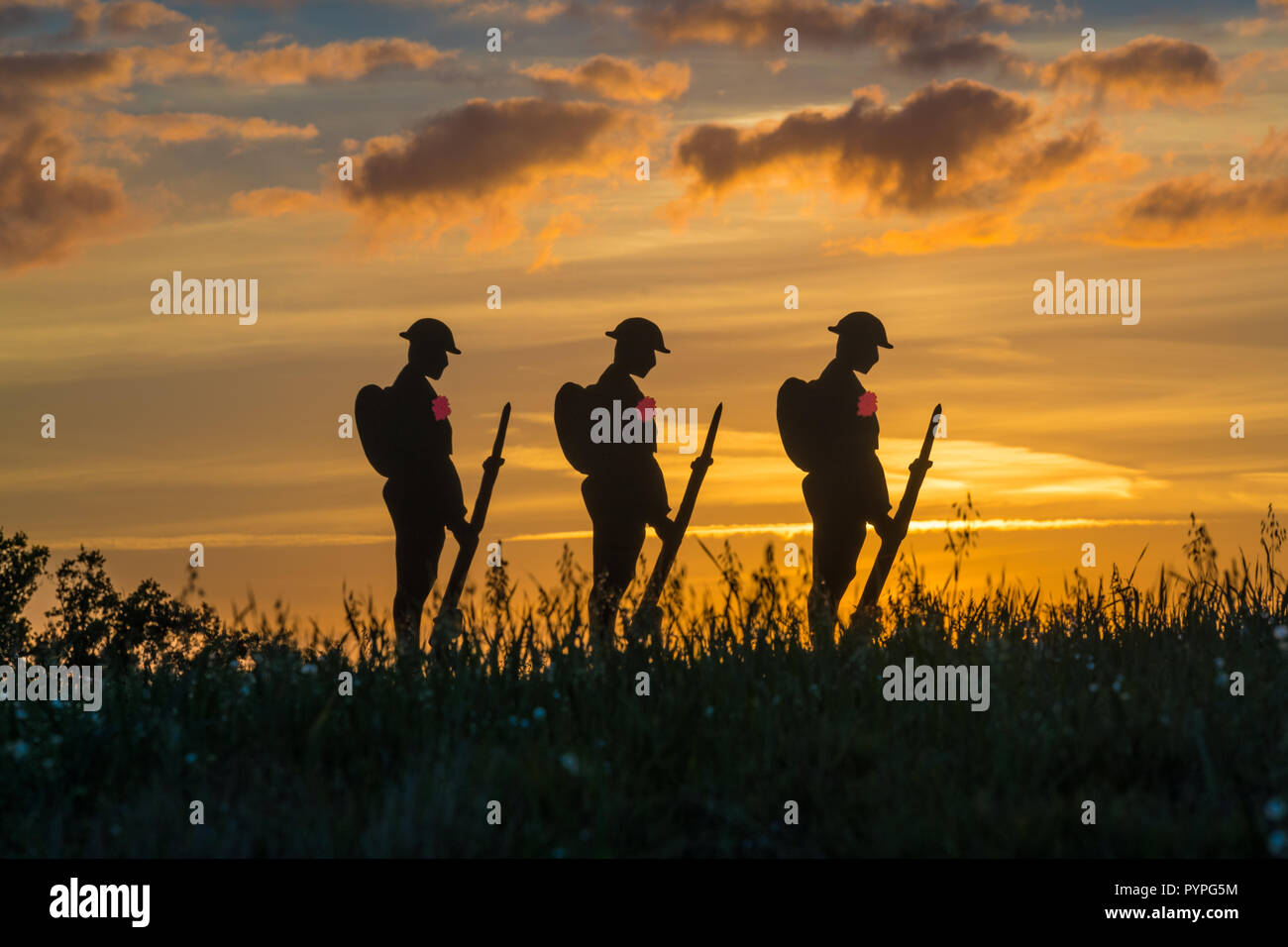 Lest we Forget - Remembrance Soldiers - Stock Image