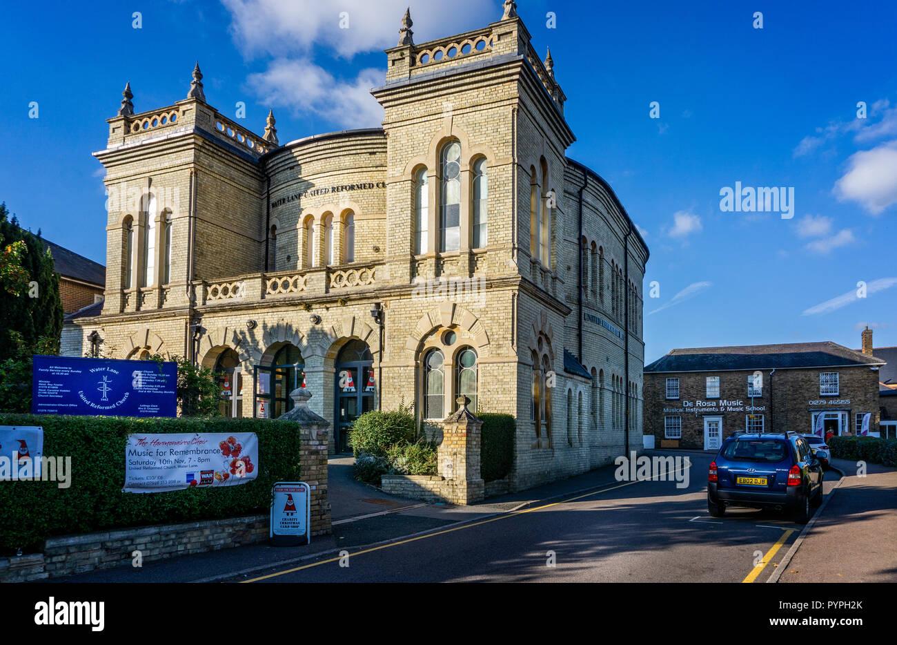 Water Lane United Reform Church in Bishop's Stortford, Hertfordshire, UK on 25 October 2018 Stock Photo